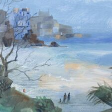 Porthminster Beach St Ives by Lesley Holmes